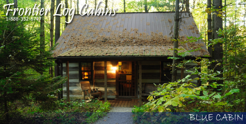 Frontier Log Cabins - Hocking Hills Ohio - Blue Cabin