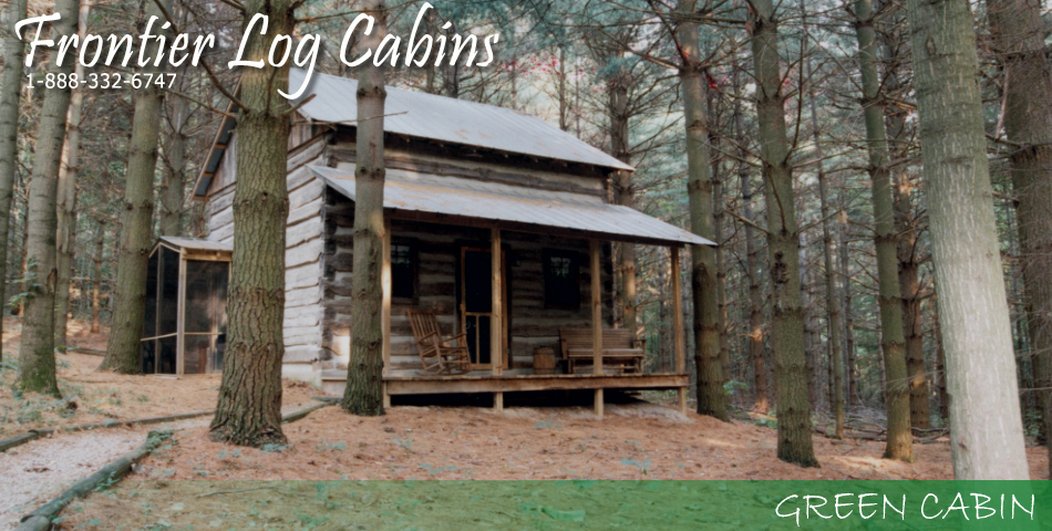 Frontier Log Cabins - Hocking Hills Ohio - Green Cabin