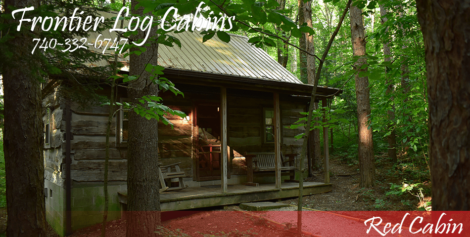 Frontier Log Cabins - Hocking Hills Ohio - Red Cabin