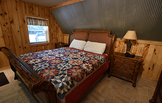 Hocking Hills Cabin King Size Bed